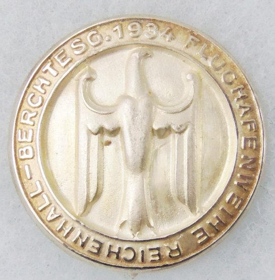 Scarce 1934 German Unknown Commemorative Pin-Airport Opening?