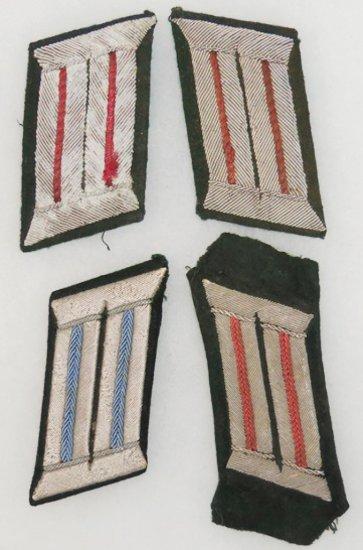 4 pcs. WWII German Heer Officer's Collar Tabs