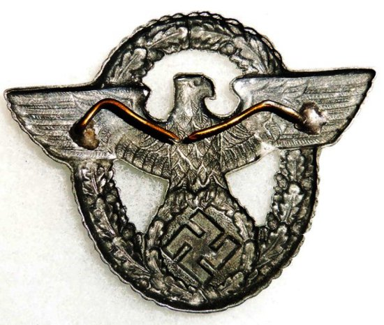 WWII German Polizei Cap Eagle