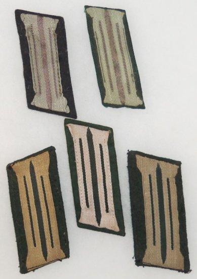 5 pcs. WWII German Heer Collar Tabs - EM