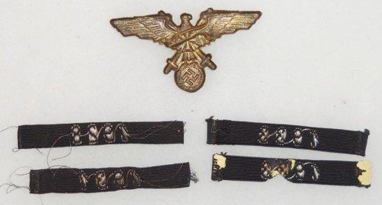 5 pcs.WW1 Veteran's Early Cap Eagle/Rare SA Year of Entry Insignia