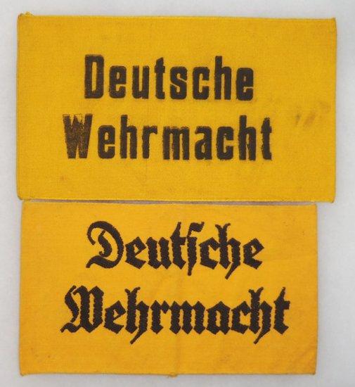 2 pcs. WWII Deutsche Wehrmacht Armbands