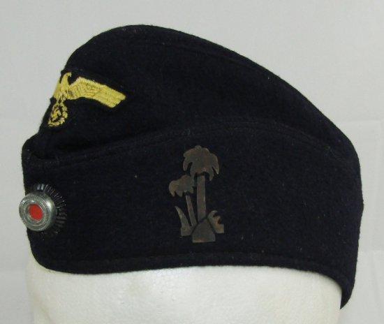 WW2 Kriegsmarine Overseas cap For EM/NCO With Palm Tree U-Boat Device-U-459?