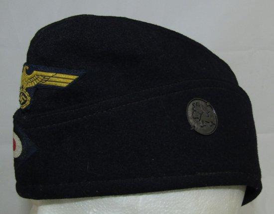 WW2 German Kriegsmarine Overseas Cap For EM With U-Boat Insignia-U270