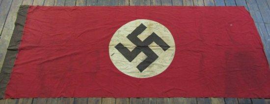WW2 German NSDAP Banner/Flag With U.S. Vet Signatures