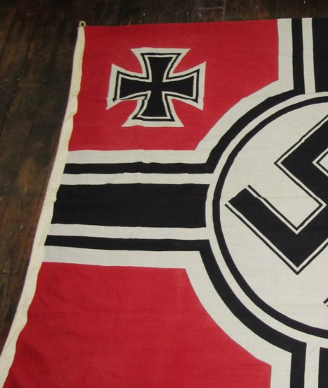 WW2 Kreigs Flag With Eagle Over M Stamping