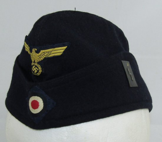 WWII Kreigsmarine Overseas Cap for EM w/ U-Boat Insignia-U103/2nd Flotilla