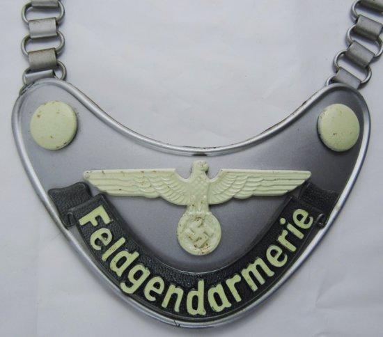 WW2 Feldgendarmerie Gorget With Vet Bring Back Provenance