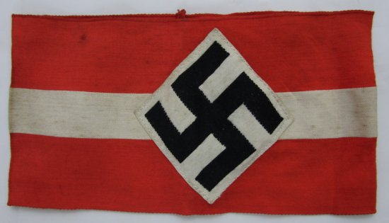 WW2 Hitler Youth Armband With RZM Tag-Vet Bring Back