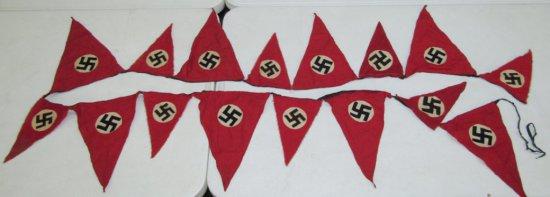 WW2 German NSDAP Rally Pennant Streamer