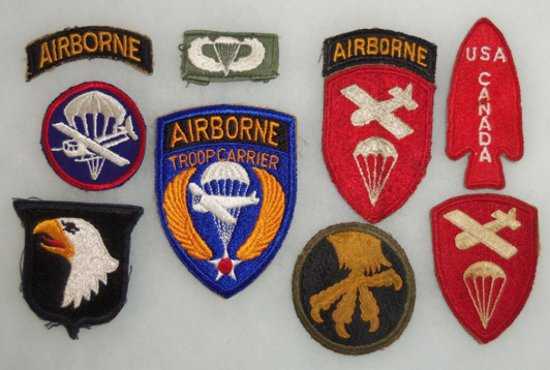 9 pcs. WWII US Airborne Patches