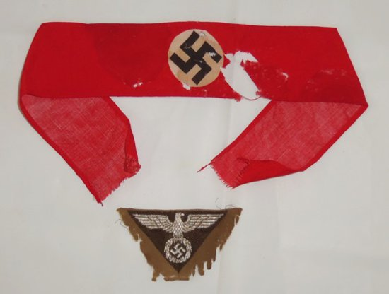 2 pcs. WWII German NSDAP Armband/Cap Eagle