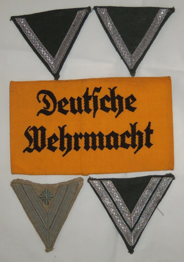 5 pcs. WW2 German Wehrmacht Armband/Chevrons