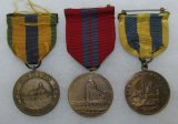 3pcs-Early USN Campaign Medals-Mexico, Dominican & Spanish Campaigns