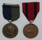 2pcs-Civil War Lincoln Service Medal-US Army Indian Wars Service Medal