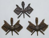 3pcs-Rare WW1 US Military Aviator Pilot Officer's Collar Insignia-BB&B And Matching Pair By JR Gaunt