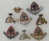 8 pcs. RAD/NSBO Cap Badges/Donation Pin