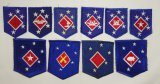 10pcs-WW2 Period 1st Marine Amphibious Corp (MAC) Patches-Harry S. Wosk Tags