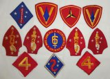 12pcs-WW2 USMC Division Patches