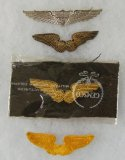 4pcs-WW2 Period US Army Air Forces Pilot Instructor Insignia