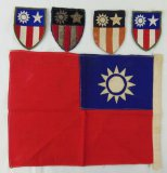 5pcs-WW2 CBI Theater Patches-Chinese Flag