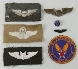 7pcs-WW2 Period US Army Air Corp Pilot Wings-Sweetheart Items