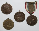 4pcs-Early USN/USMC Campaign Medals-Cuban-Haitian, Nicaraguan-China Cruise
