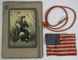 3pcs- WWII US Airborne  Studio Photo-Netherlands Lanyard-Invasion Flag