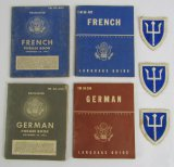 7pcs-Restricted WWII US Army Invasion Forces Language Booklets-97th Division Patches
