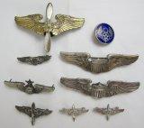 9pcs-USAAF Pilot Wings-Misc. Insignia