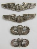 4pcs-Full Size Glider Pilot Wings-Airborne Jump Wings