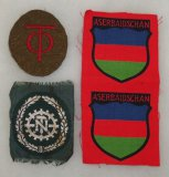 3 pcs. WW2 Aserbaidschan/Teno/Org. Todt Sleeve Patches