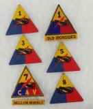 7 pcs. WW2 US  Armored Division Insignia