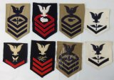 8 pcs. WW2 Period US Navy Sleeve Rates