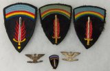 6 pcs. WWII Period SHAEF Sleeve Patches/DI/Non-Matching Colonel