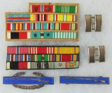 6 pcs. WWII Period Ribbon Bars/Captain-CIB-Expert Infantryman Insignia
