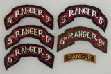 6 pcs. WW2  4th-5th-6th Ranger Scrolls