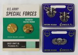 3 pcs. US Army Special Forces/Paratrooper Glider Vintage Insignia