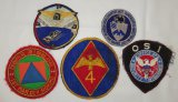 5 pcs. Vintage US Military Patches