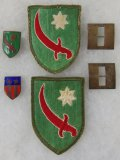 6 pcs. WW2 US Army Persian Gulf Patches-Insignia/CBI DI/Captain Ranks