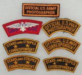 7pcs-WWII U.S. Photographer/War Correspondent/USO Shoulder Patches