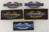 5pcs-Theater Made U.S. Combat Infantry Badges