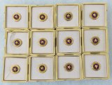 12pcs- KIA Gold Star lapel Pins With Issue Boxes