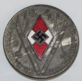 Scarce 1941 Hitler Youth Ski Competition Badge-Garmisch