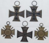 5pcs-WW1 Iron Cross 2nd Class-Honor Cross