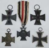 5pcs-WW1 Iron Cross 2nd Class-Honor Cross W/Next Of Kin Ribbon