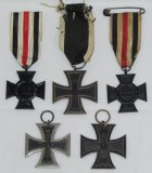 5pcs-WW1 German Next Of Kin Honor Medals-Iron Crosses 2nd Class