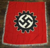Multi-Piece Construction DAF Parade/Podium Banner With Silver Bullion Fringe.