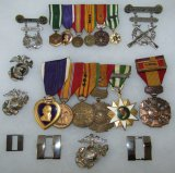 Vietnam War Period USMC Officer's Medal/Insignia Grouping.