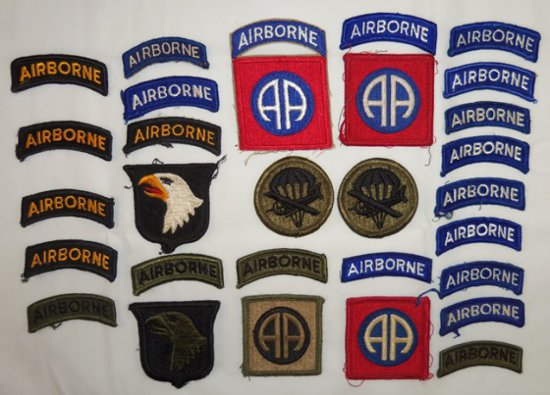 29 pcs. US Army Airborne Patches/Tabs